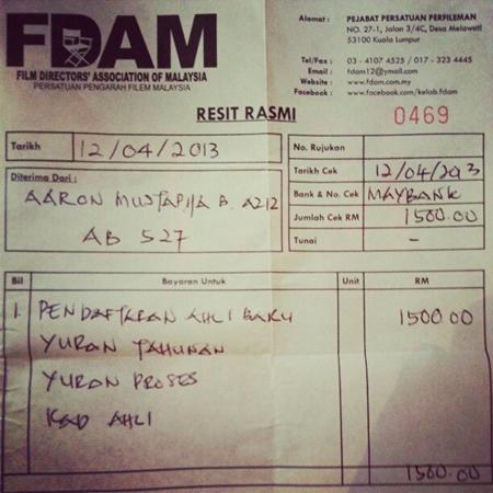 resit+pendaftaran Punca Aaron Aziz Mengamuk Di Instagram