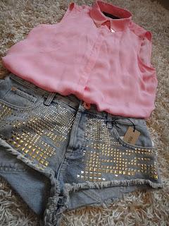 Festival Shorts, Studded Shorts, Gold Studded Shorts, River Island Shorts, Denim Shorts