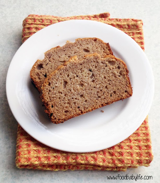 Easiest Banana Bread (Wheat free, Dairy free, Sugar free, Nut free) © www.foodbabylife.com