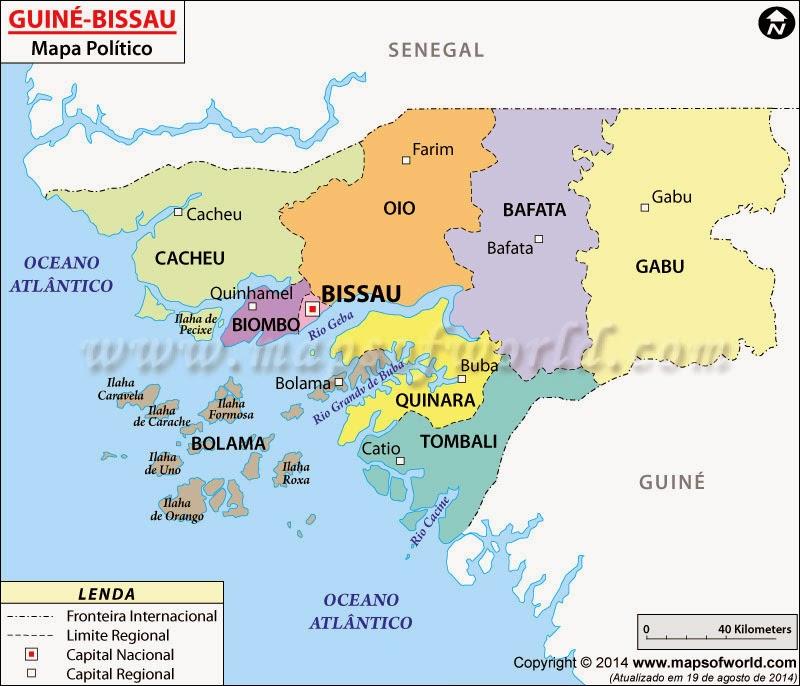 GUINÉ-BISSAU MAPA POLITÍCO