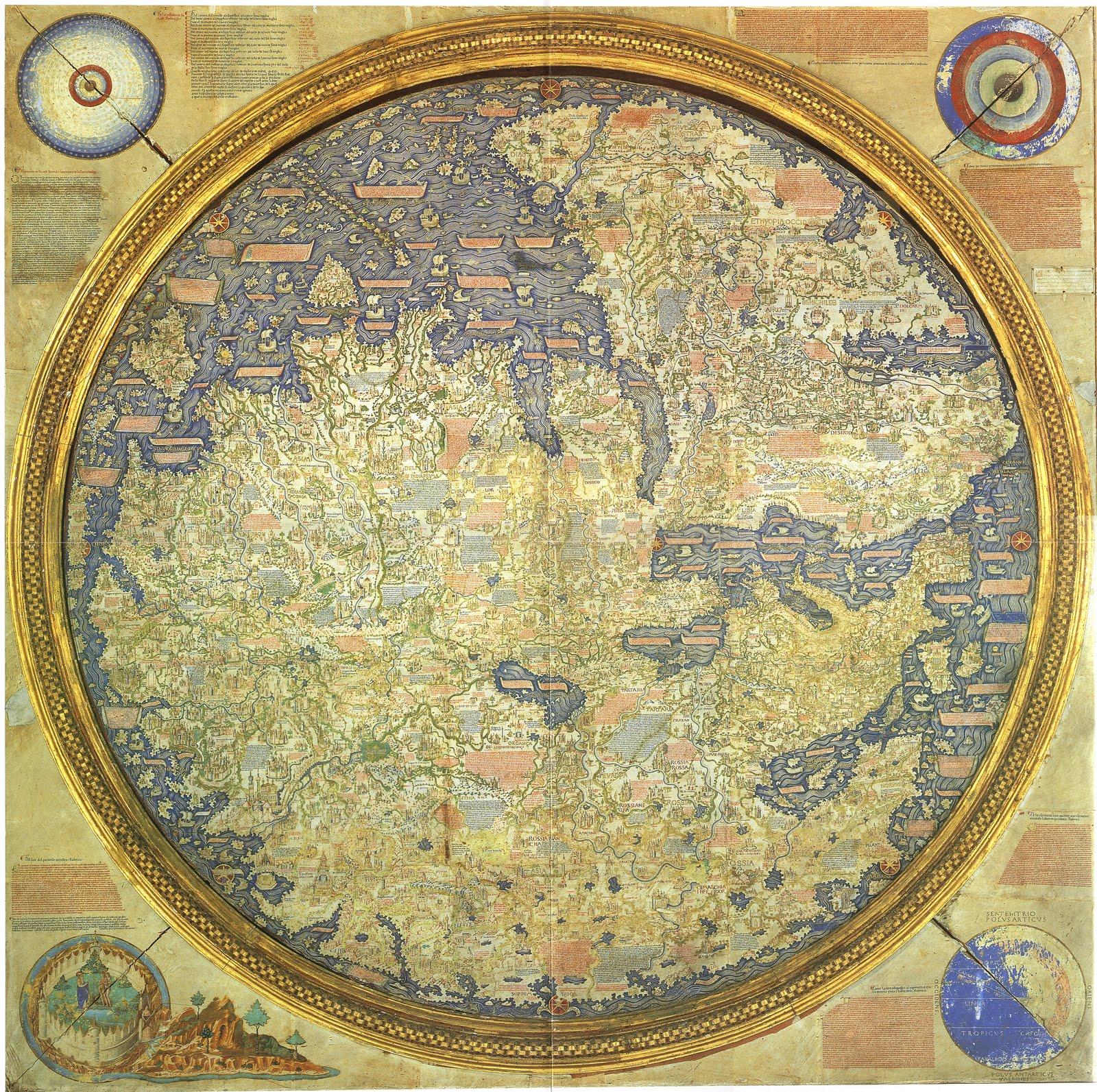 Ymago mundi Mapamundi de Fra Mauro alta definio