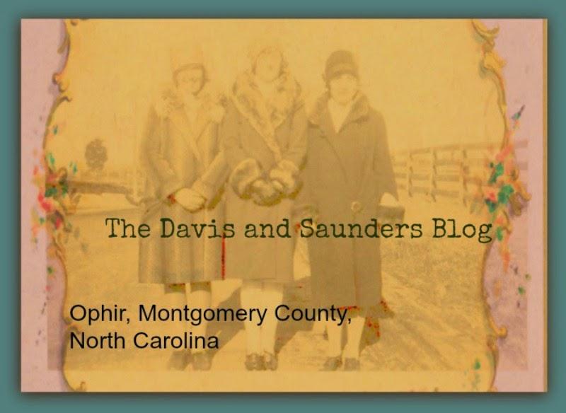 Davis Saunders Family Ancestry