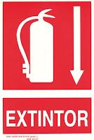 aviso de extintor