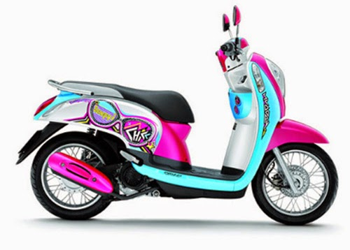 modifikasi motor honda scoopy fi 2014