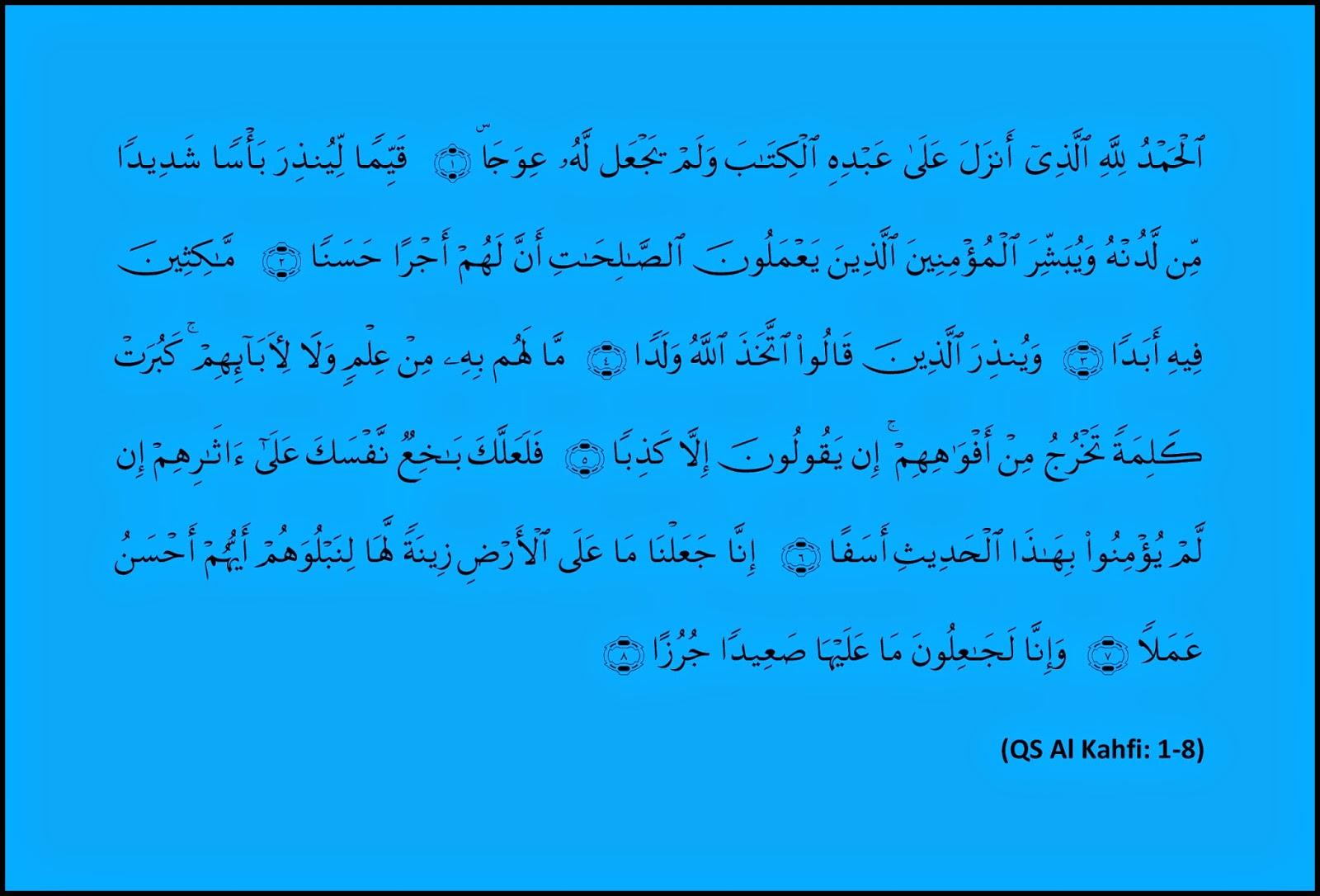 Al Kahfi 1-8, al kahfi ayat satu sampai delapan, Allah, cacatan yang menunggu untuk ditemukan
