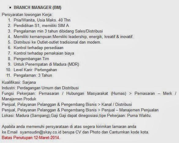 bursa-loker-terbaru-maret-2014-sampang-madura
