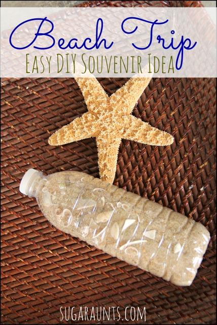 Easy beach souvenir idea for kids.