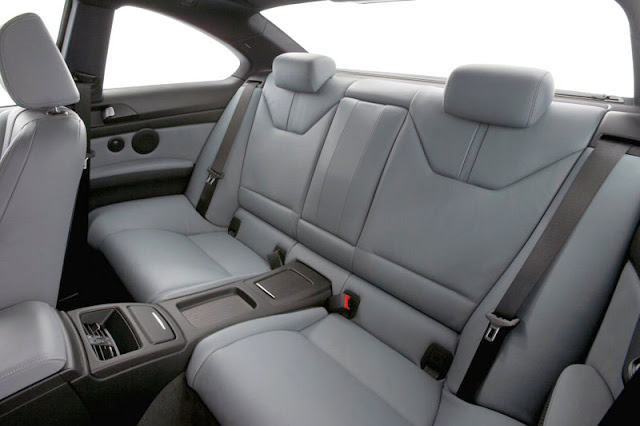 2008 BMW M3 Coupe Back Interior Rear View