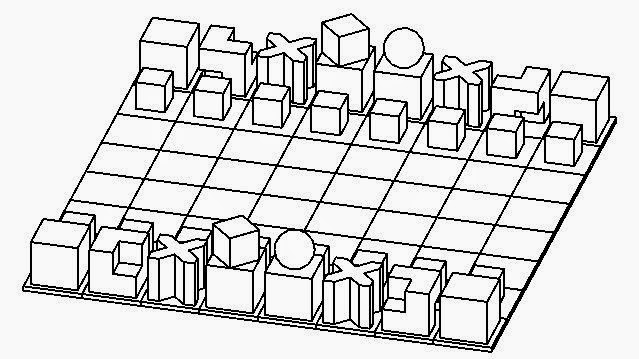 i love the way this chess set is abstracted down to the simplest of geometric forms classic bauhaus design break things apart analyse them rebuild from