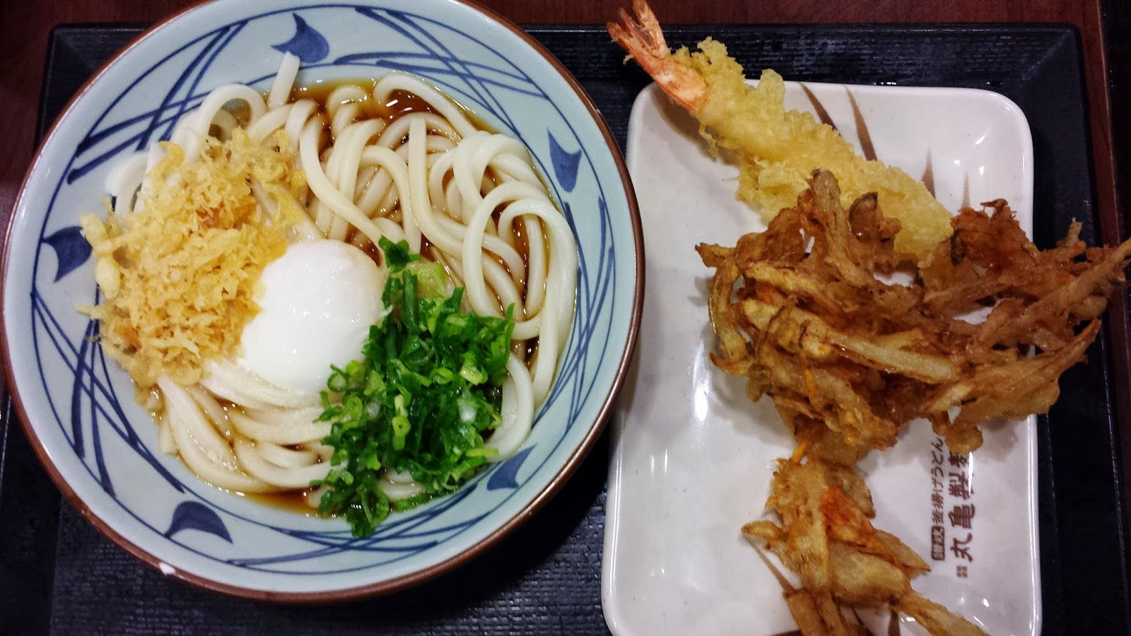 Yummy marukame udon and tempura. Photo: Just J