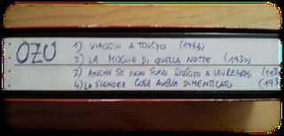 videocassetta di ozu