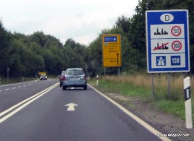 Ограничение скорости в Германии
