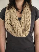 lace scarf cowl knitting pattern handspun yarn