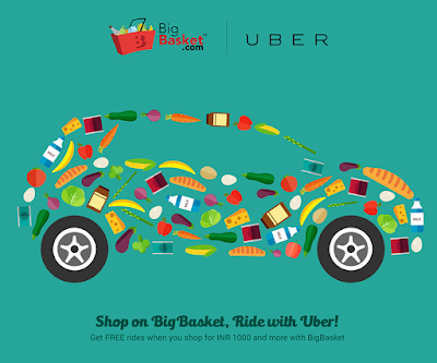 Shop on BigBasket.com and get free rides with Uber