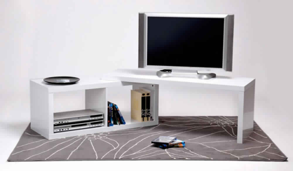 Dimension meuble tv alinea - Meuble tv d angle blanc ...