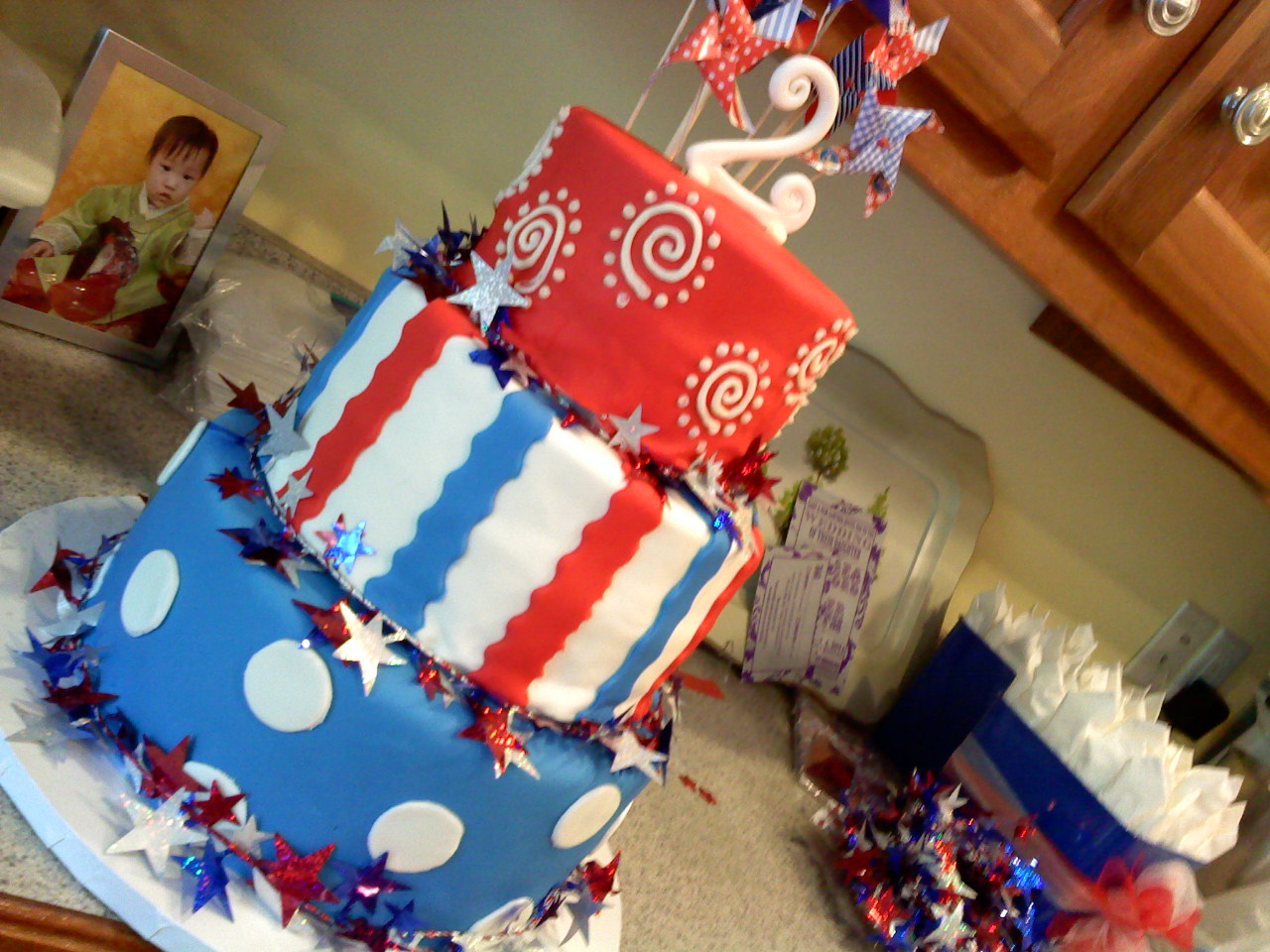 Lafayette Crews Cakes And Dainties Red White And Blue Birthday