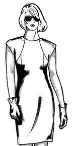 Моделирование платьев путем перевода вытачек. Часть 2