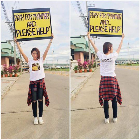 How Thai Actress Kaew Korravee Trying Help Myanmar Flood Victims