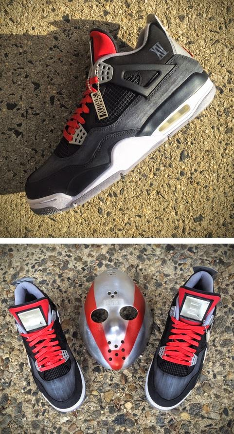 Here is a detailed look at these Air Jordan 4 Eminem