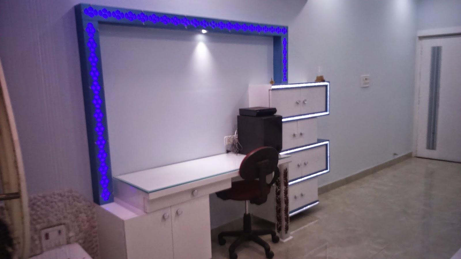 LED TV FURNITURE DESIGN USING SIDE BLUE LED