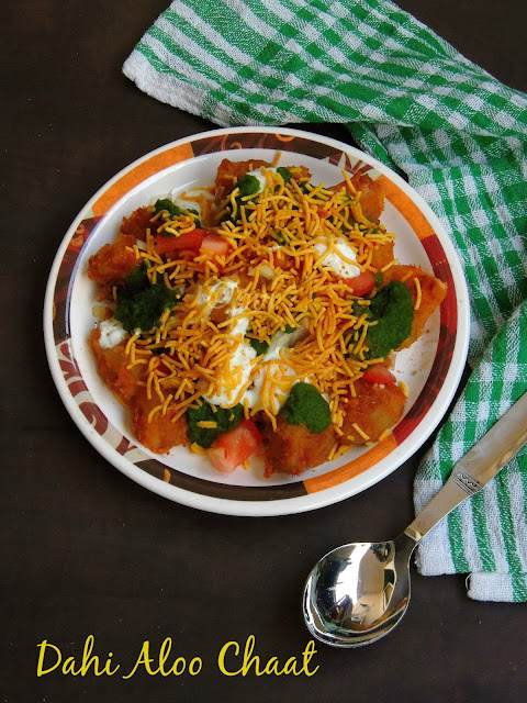 Dahi aloo chaat, Potato Chaat, Aloo Dahi chaat