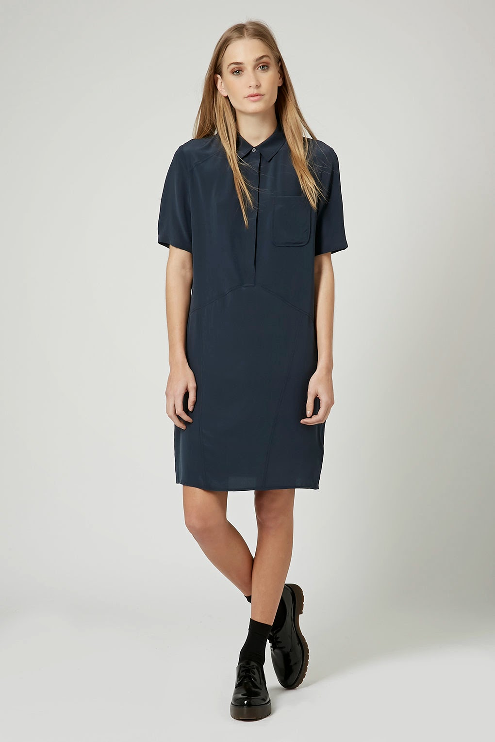 navy silk dress 2015, boutique silk dress,