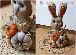 Lapin à poser et ses pumpkins