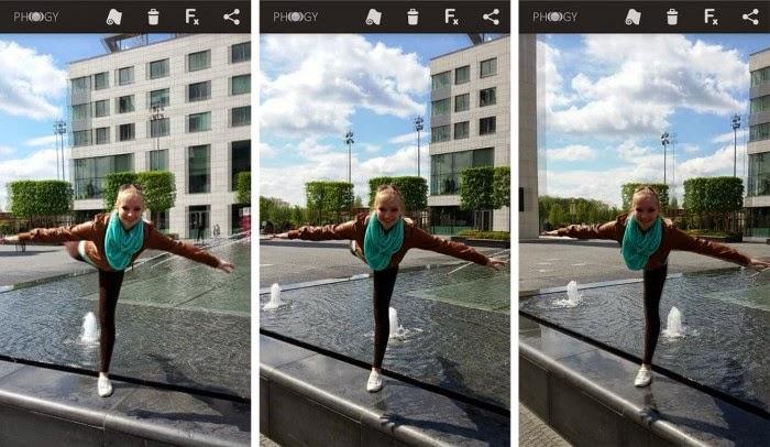 La aplicación de fotografía Phogy