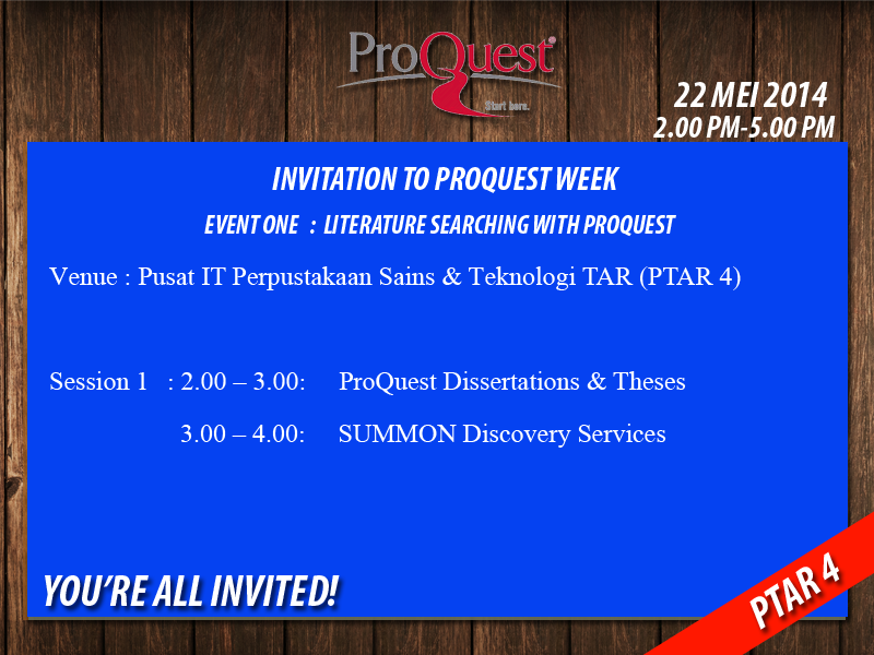Proquest thesis search one
