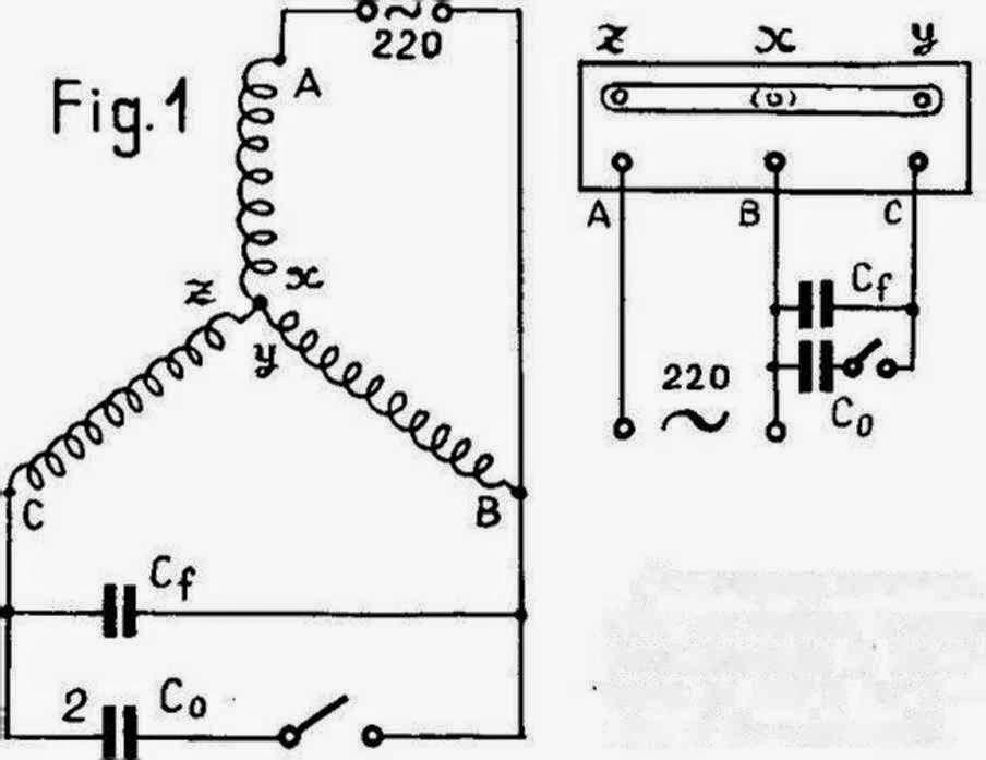 Legare motor trifazic