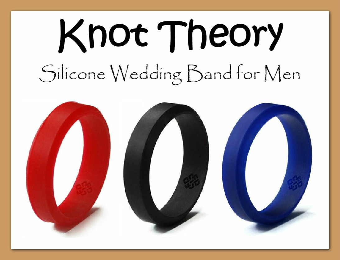 Knot Theory Flexible Silicone Wedding Band for Men Easter Babes