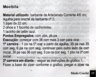 RECEITA DE BOLSA E CHAPEU EM CROCHE PARA CRIANÇAS