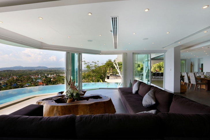 Living room views in Modern Villa Beyond in Phuket