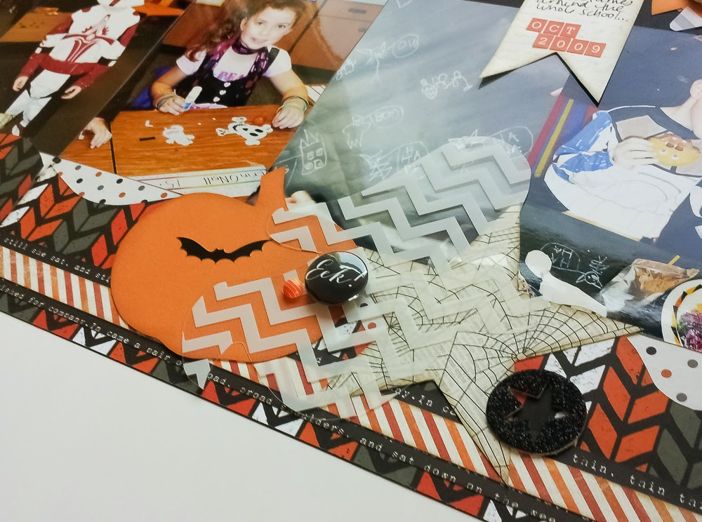 Halloween layout for Kiwi Lane Designs -- www.MightyCrafty.me