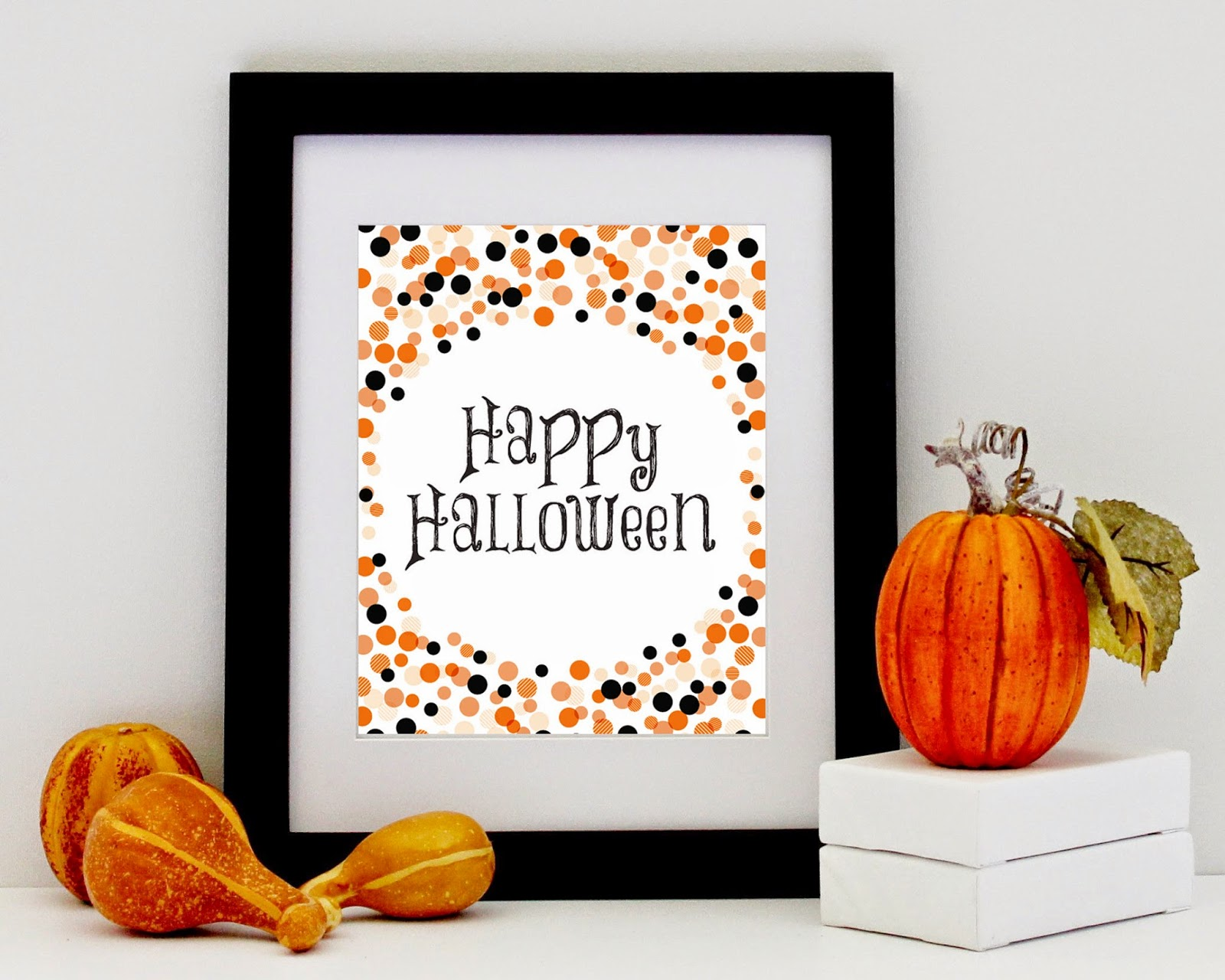 DIY Halloween Print, Printable Halloween Sign by Designed By M.E. Stationery