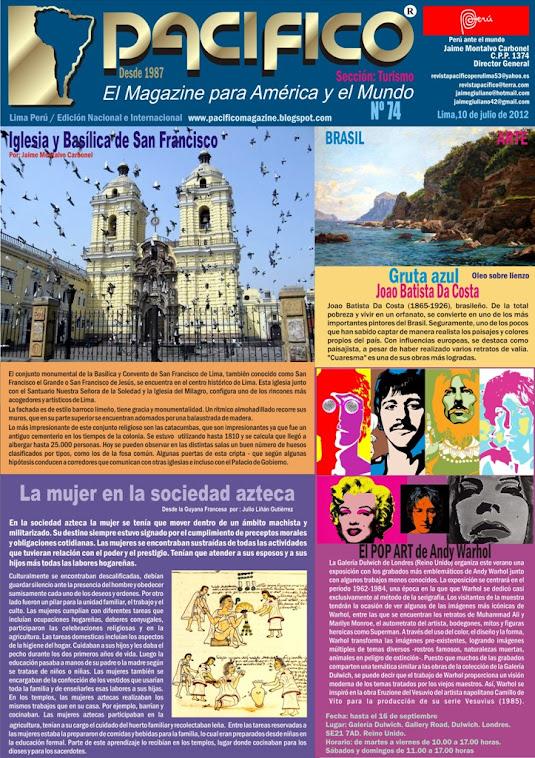 Revista Pacífico Nº 74 Turismo