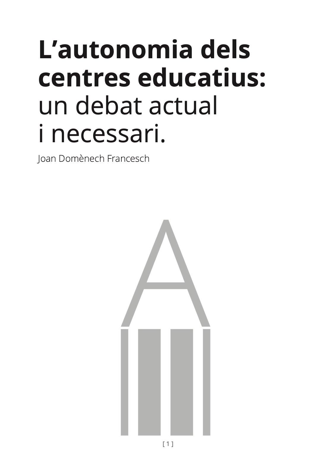 L'Autonomia dels centres educatius