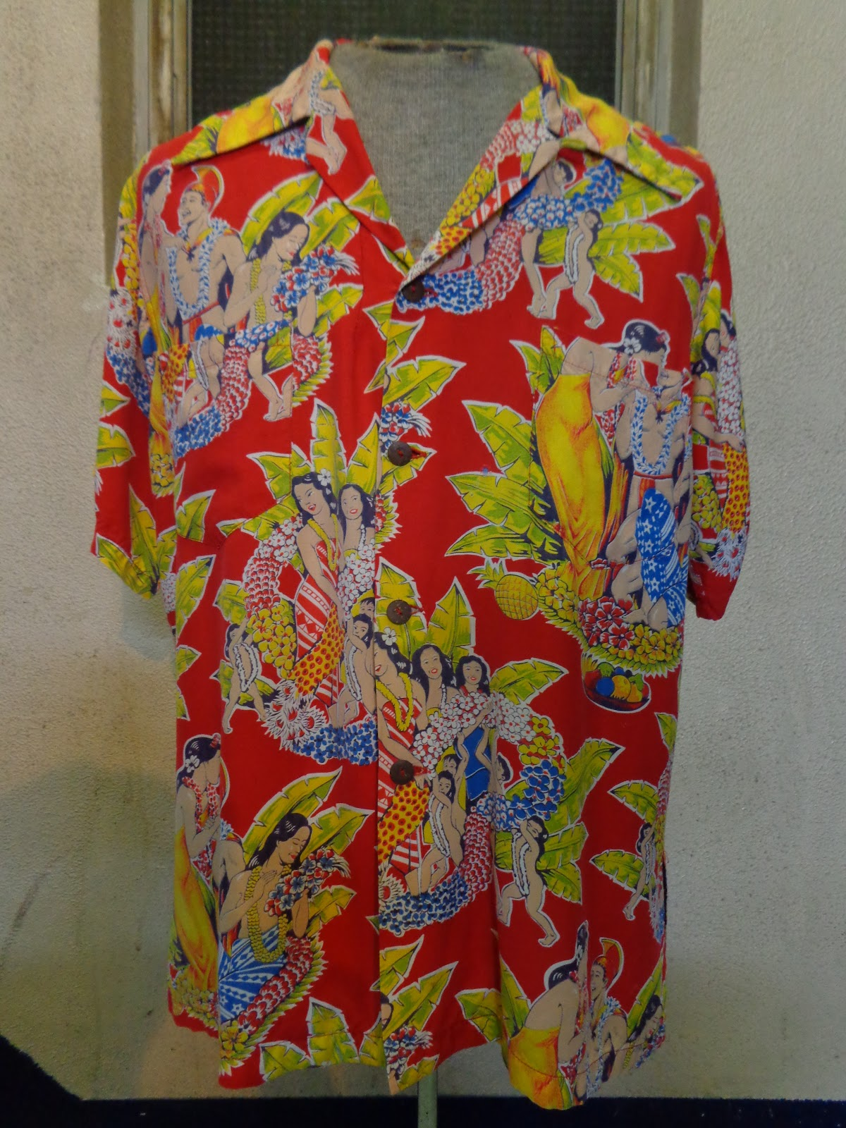 40's 「KAHANA MANUFACTURING CO.」 HAWAIIAN SHIRTS