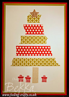 Washi Tape Christmas Tree Card by UK Stampin' Up! Demonstrator Bekka Prideaux - check out her blog for lots of great ideas