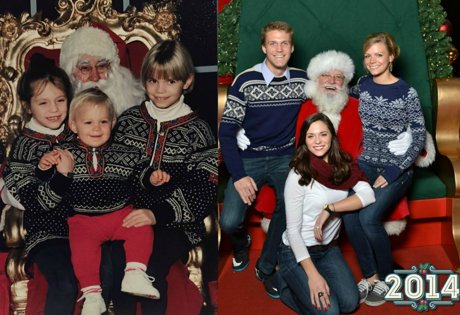 29 years of Santa Photos, Family Santa Christmas Pictures