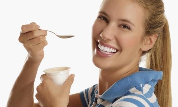 fruta ou iogurte