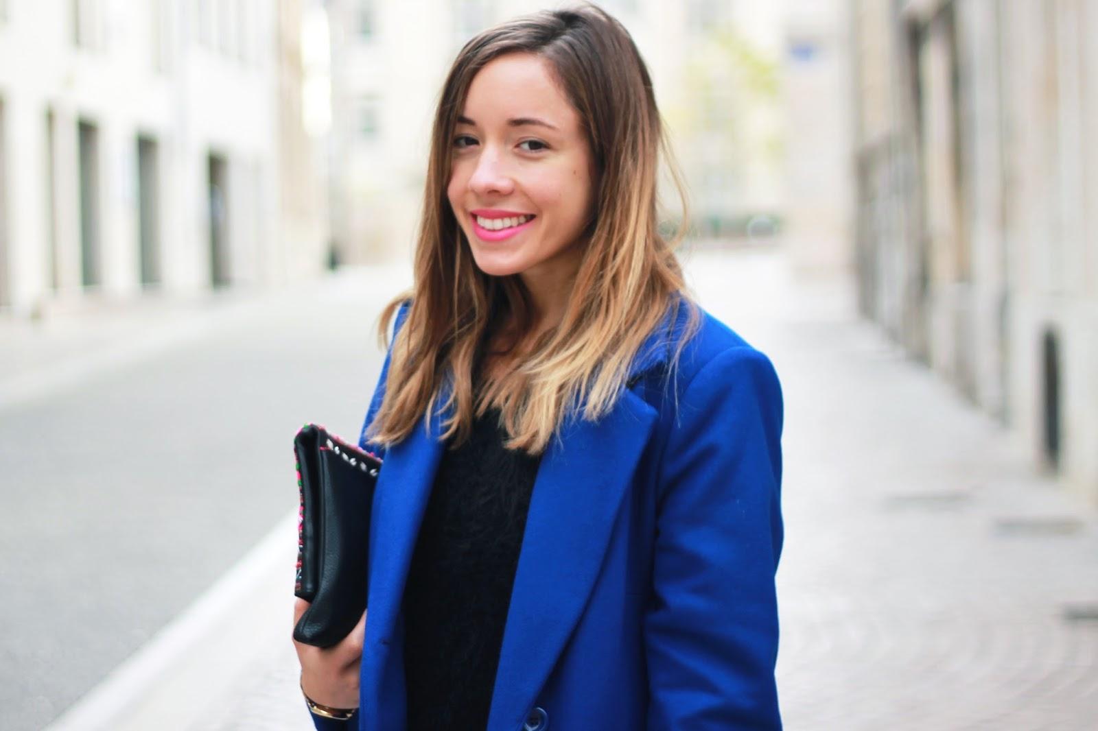 Manteau caban bleu