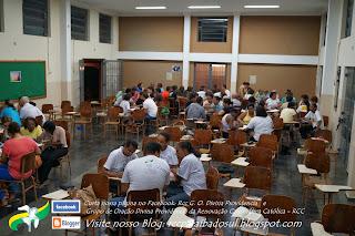 Núcleos realizando avaliação do Grupo de Oração