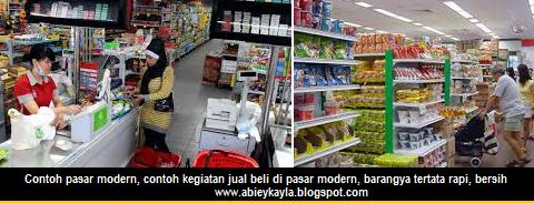 contoh pasar modern, ciri ciri pasar modern