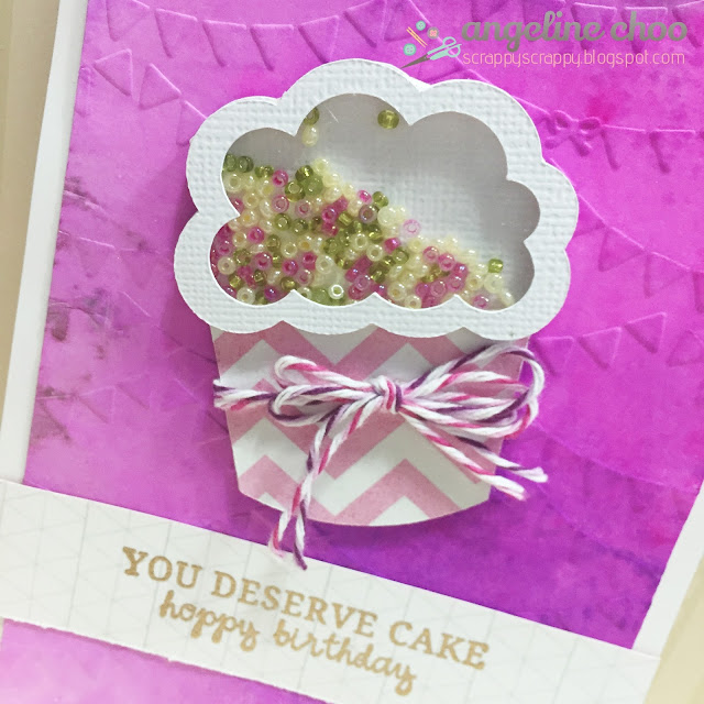 ScrappyScrappy: You deserve cake! #scrappyscrappy #unitystampco #thecuttingcafe #shakercard #emboss #stamp #trendytwine