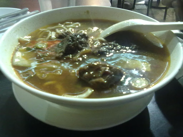 spicy beef noodles from Mey Lin Pot and & Noodle House