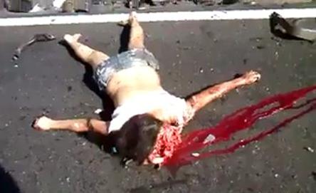 muerte en la carretera: