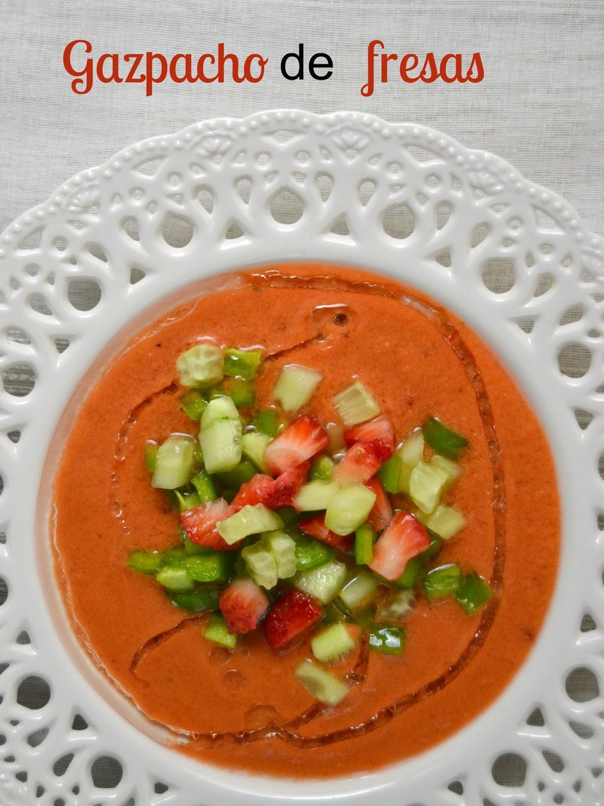 Gazpacho de fresas | Cuuking! Recetas de cocina