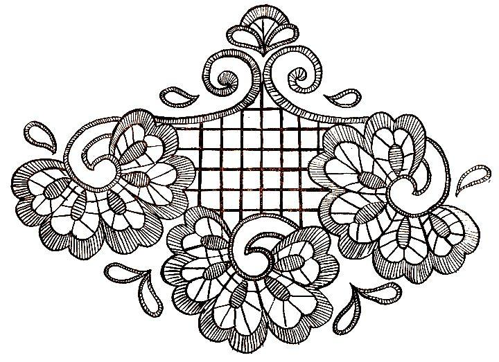 Ришелье дизайн вышивки 41