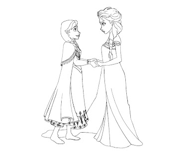 #1 Disney Frozen Coloring Page